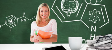 Composite image of mature student smiling Stock Image