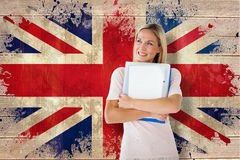 Composite image of mature student smiling Royalty Free Stock Photos