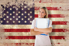 Composite image of mature student smiling Stock Photography
