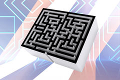 Composite image of maze Stock Images