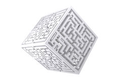 Composite image of maze cube Stock Image