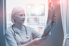 Composite image of medical biology interface in blue 3d Stock Photography