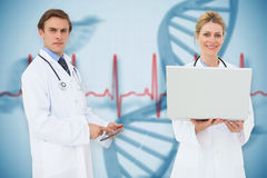 Composite image of medical team stock photos