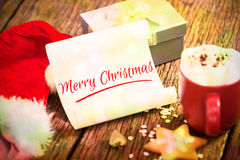 Composite image of merry christmas Stock Photo