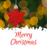 Composite image of merry christmas Royalty Free Stock Photography