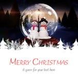 Composite image of merry christmas Stock Photos
