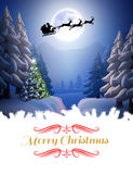 Composite image of merry christmas Stock Image