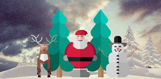 Composite image of merry christmas illustration Stock Photos