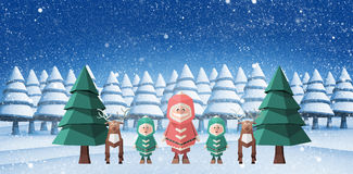 Composite image of merry christmas illustration Royalty Free Stock Photography