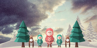 Composite image of merry christmas illustration Royalty Free Stock Images