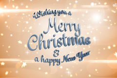 Composite image of merry christmas message Stock Photos