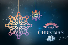 Composite image of merry christmas message Stock Photography