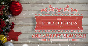 Composite image of merry christmas message Royalty Free Stock Photography