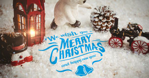 Composite image of merry christmas message Royalty Free Stock Photos