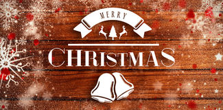 Composite image of merry christmas message Stock Image