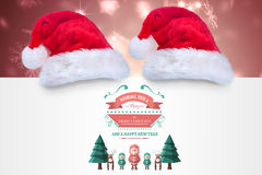 Composite image of merry christmas message Royalty Free Stock Image