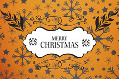 Composite image of merry christmas message Royalty Free Stock Photo
