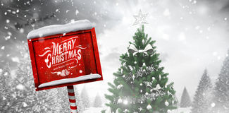 Composite image of merry christmas message Stock Images