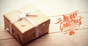 Composite image of merry christmas message Stock Photo
