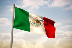 Composite image of mexico national flag Royalty Free Stock Photo