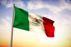 Composite image of mexico national flag Stock Photos