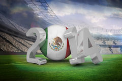 Composite image of mexico world cup 2014 Stock Photos