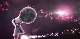 Composite image of microphone with stand Stock Images