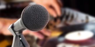 Composite image of microphone with stand Royalty Free Stock Photo
