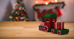 Composite image of miniature train Stock Photos