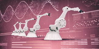 Composite image of modern robots arranged side by side 3d Stock Photography