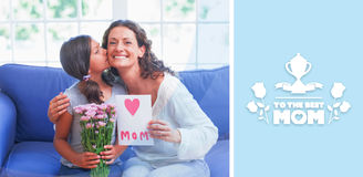 Composite image of mothers day greeting Royalty Free Stock Photography