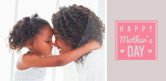 Composite image of mothers day greeting Royalty Free Stock Image