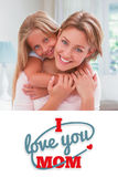 Composite image of mothers day greeting Stock Photography