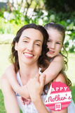 Composite image of mothers day greeting Royalty Free Stock Images