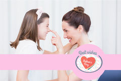 Composite image of mothers day greeting Royalty Free Stock Photos