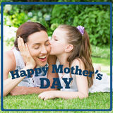 Composite image of mothers day greeting Royalty Free Stock Photo