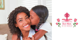 Composite image of mothers day greeting Stock Photo