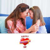 Composite image of mothers heart Stock Image