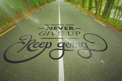 Composite image of motivational message Stock Photography