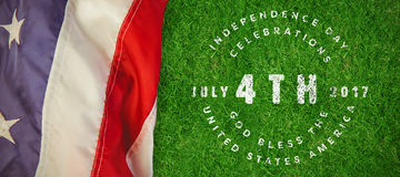Composite image of multi colored happy 4th of july text against white background. Multi colored happy 4th of july text against white background against closed up royalty free illustration