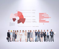 Composite image of multiethnic business people standing side by side Royalty Free Stock Photos
