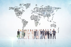 Composite image of multiethnic business people standing side by side Stock Images