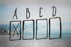 Composite image of multiple choice doodle Stock Image