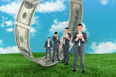Composite image of multiple image of wealthy businessman Stock Photography