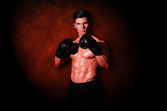 Composite image of muscular boxer Stock Images