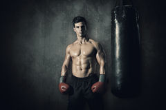 Composite image of muscular boxer Royalty Free Stock Images