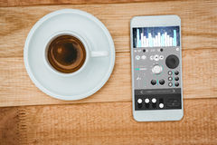 Composite image of music app Stock Photos