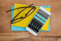 Composite image of music app Royalty Free Stock Photography
