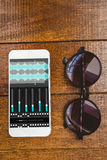 Composite image of music app Stock Image