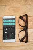 Composite image of music app Stock Images